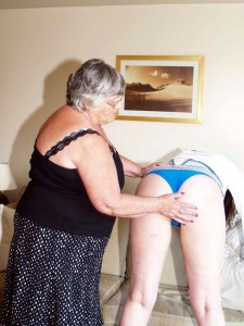 Angel eyes gets her bum spanked