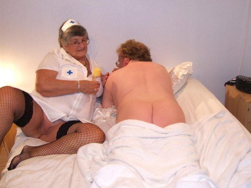 Grandma libby and angel eyes share a young cock 3
