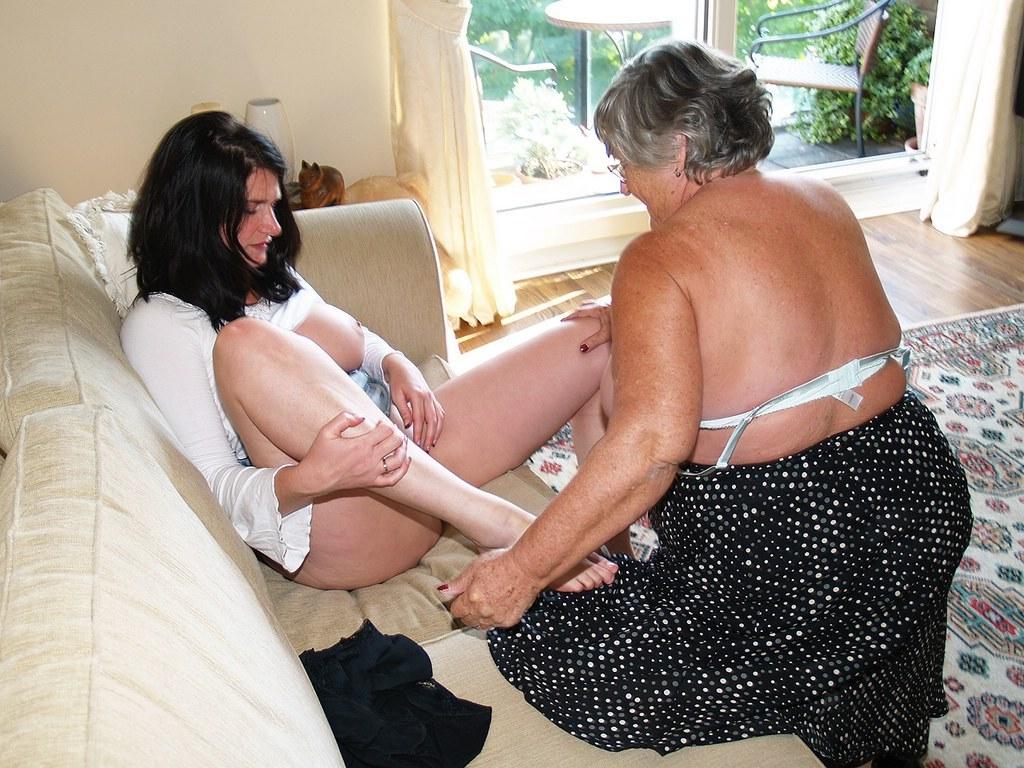 Grannies getting spankings