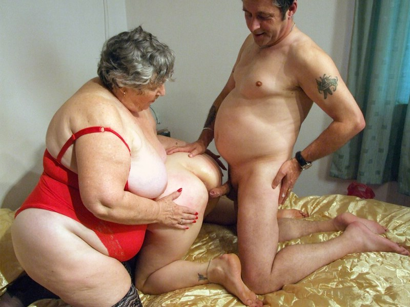 Grandma libby and angel eyes share a young cock 10